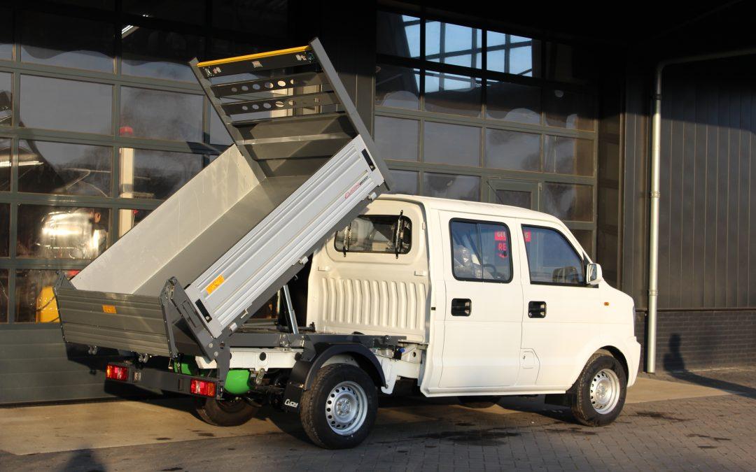 V22 Kipper dubbele cabine met CNG